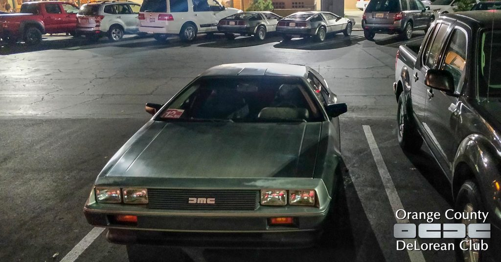 Dinner with the D's   Orange County DeLorean Club