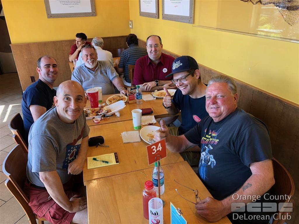 2018-09-29 'Last Minute Lunch' | Orange County DeLorean Club