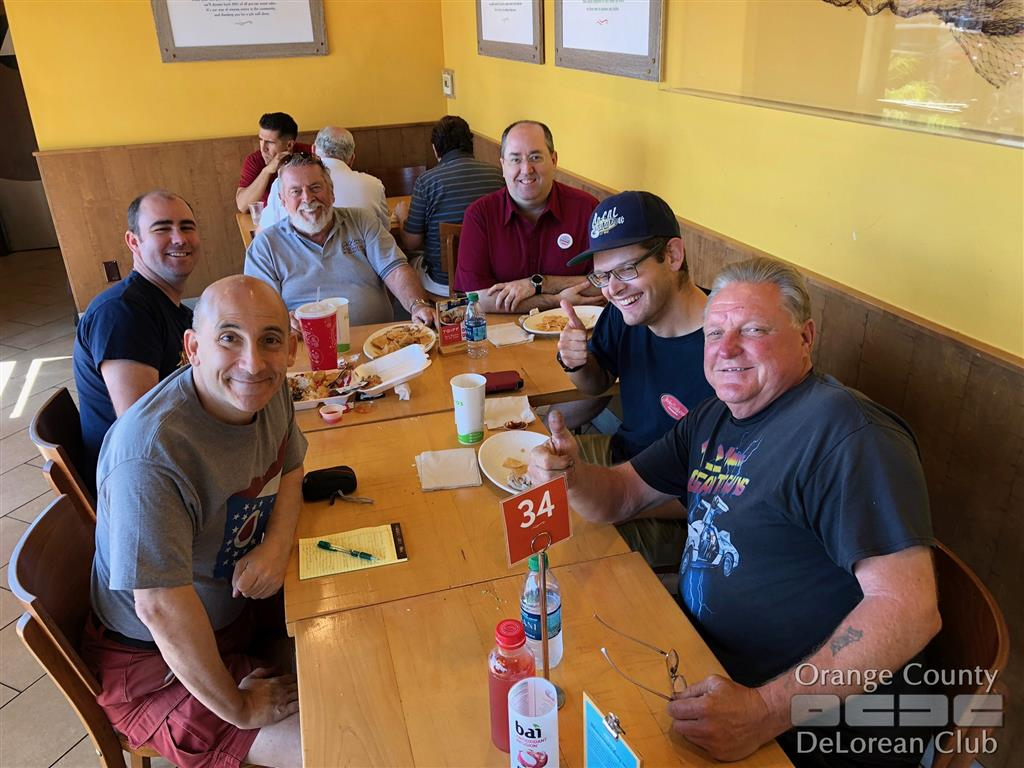 2018-09-29 'Last Minute Lunch' | Orange County DeLorean Club
