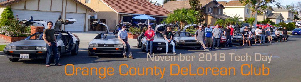 Orange County DeLorean Club November 2018 Tech Day | OCDeLoreans.com