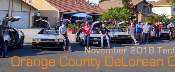 Orange County DeLorean Club November 2018 Tech Day | OCDeLoreans.com