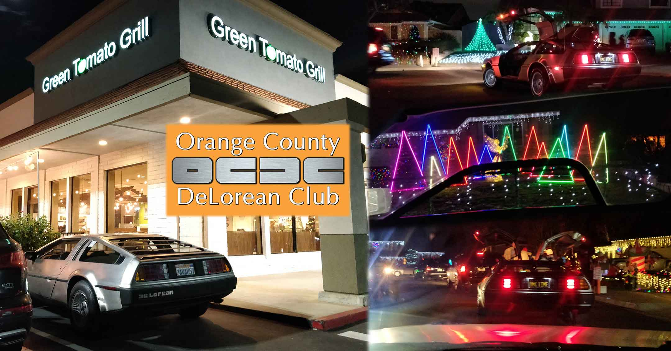 Recap: December 2018 Dinner with the D's and the Christmas Light Cruise | Orange County DeLorean Club