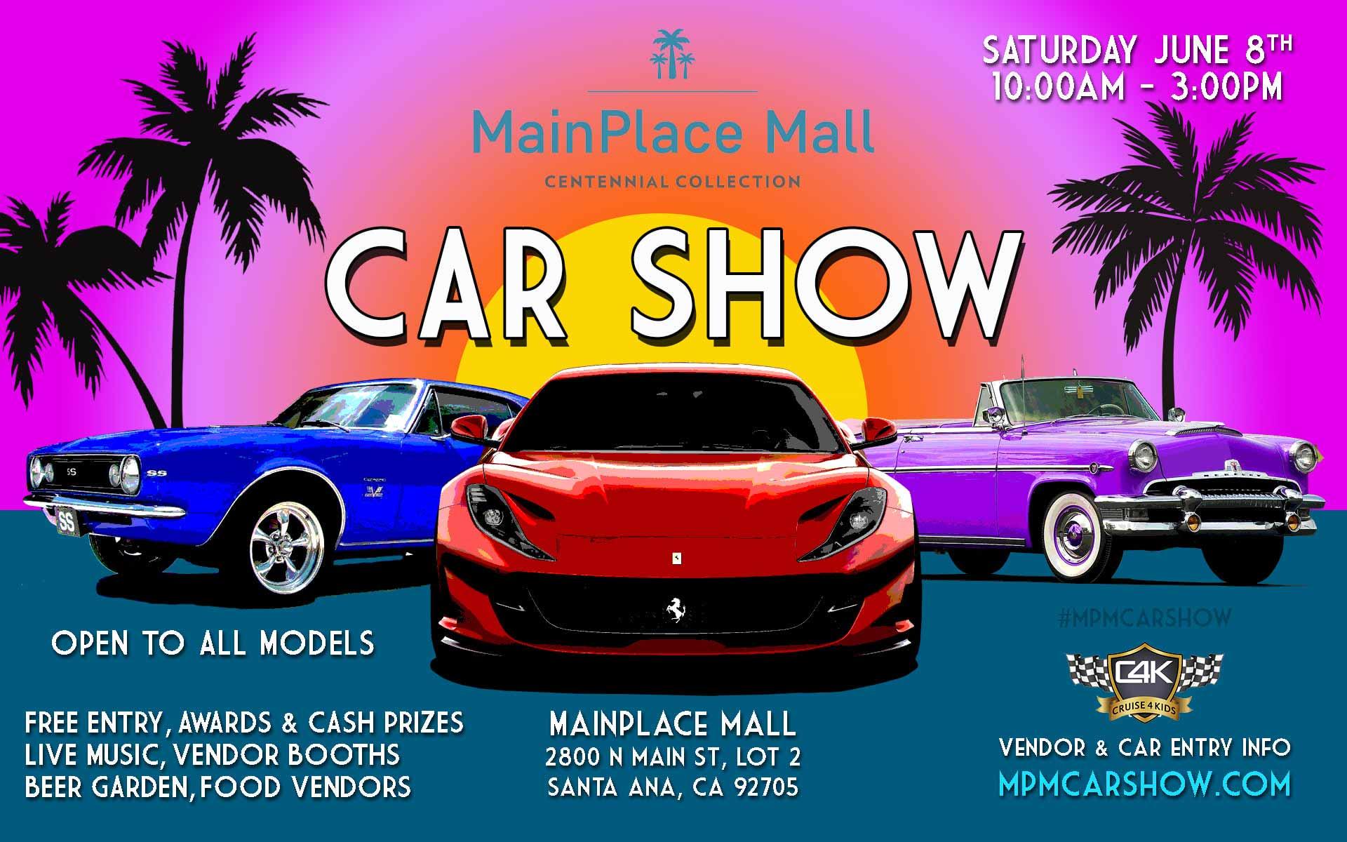 MainPlace Mall Car Show | Orange County DeLorean Club