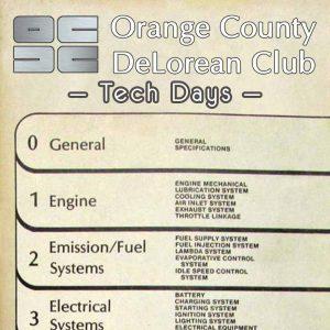 OCDC Tech Days | Orange County DeLorean Club